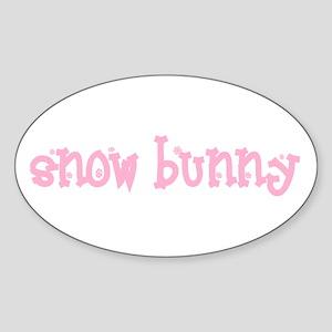 Snow Bunny Vinyl Sticker