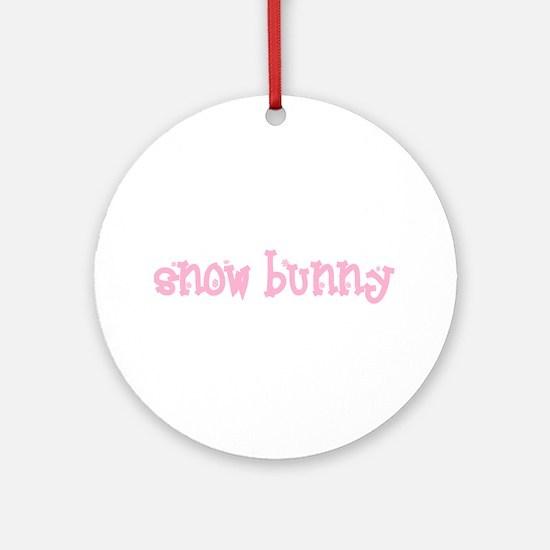 Snow Bunny Ceramic Ornament