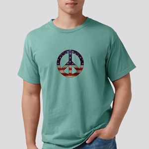 Weathered Flag Peace Sign T-Shirt