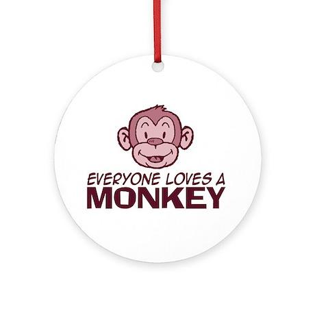 Everyone loves a Monkey Keepsake (Round)