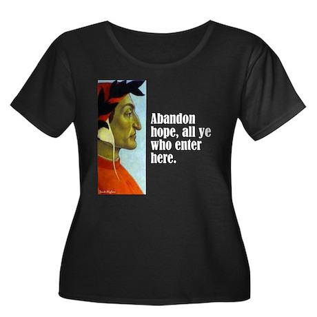 "Dante ""Abandon Hope"" Women's Plus Size Scoop Neck"