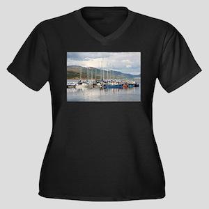 Boats at Kyleakin, Isle of Skye, Plus Size T-Shirt