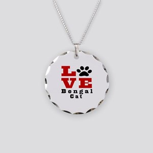 Love Bengal Cat Necklace Circle Charm