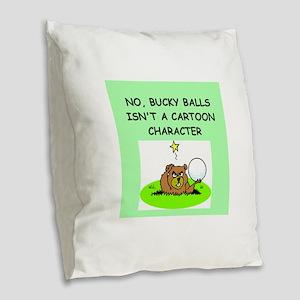 nanotechnology Burlap Throw Pillow