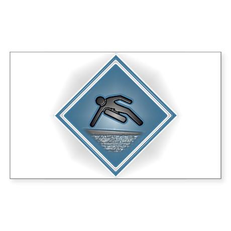 Parkour Speed Vault Rectangle Sticker