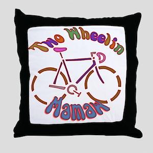 Biker Mamaw Throw Pillow