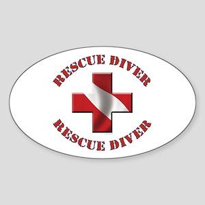 Rescue Diver Oval Sticker