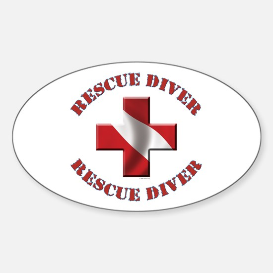 Rescue Diver Oval Decal