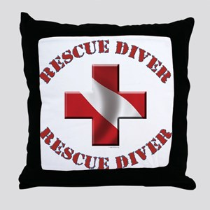 Rescue Diver Throw Pillow