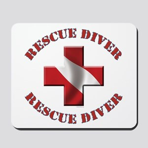 Rescue Diver Mousepad