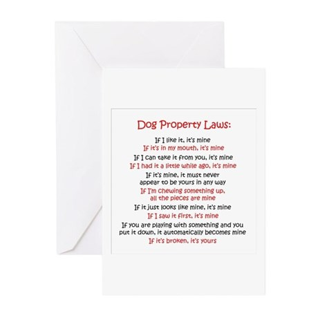 Dog Laws Greeting Cards (Pk of 10)
