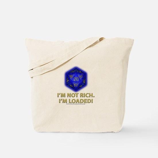 Loaded D20 (Blue) Tote Bag
