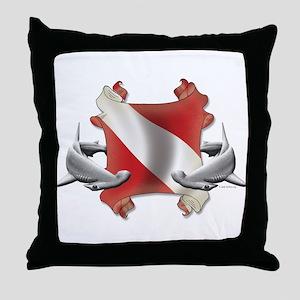 Diver's Key Throw Pillow
