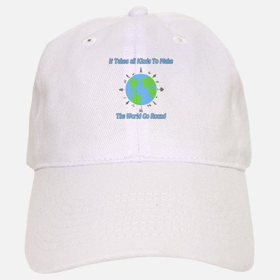 Around the World Baseball Baseball Cap