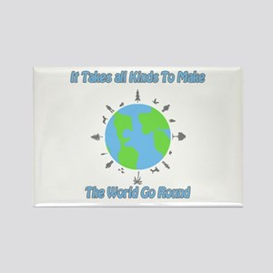 Around the World Rectangle Magnet
