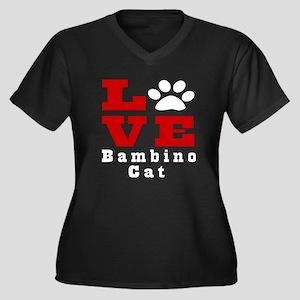 Love Bambino Women's Plus Size V-Neck Dark T-Shirt