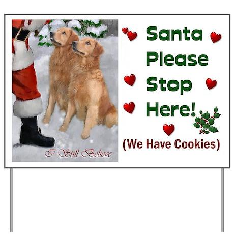 Golden Retriever Christmas Yard Sign