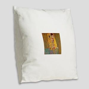 The Kiss by Klimt Burlap Throw Pillow