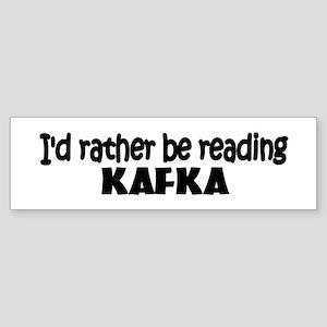 Kafka Bumper Sticker