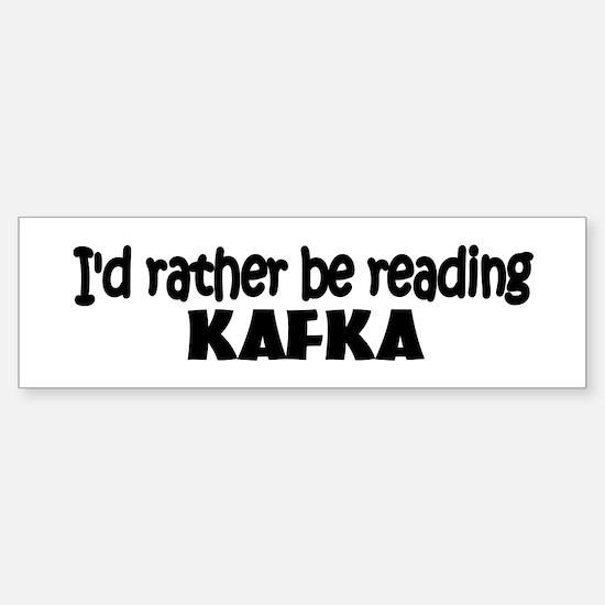 Kafka Bumper Bumper Bumper Sticker