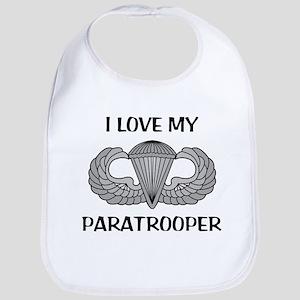 I love my paratrooper - jump wings Bib