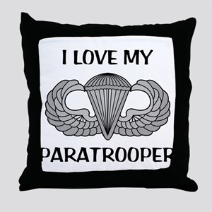 I love my paratrooper - jump wings Throw Pillow