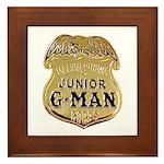 Junior G-Man Corps Framed Tile