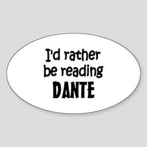 Dante Oval Sticker