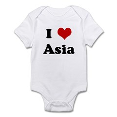 I Love Asia Infant Bodysuit