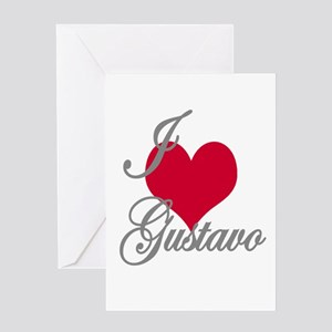 I love (heart) Gustavo Greeting Card