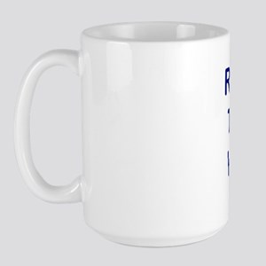 """""""Register to Vote With Me"""" Large Mug"""