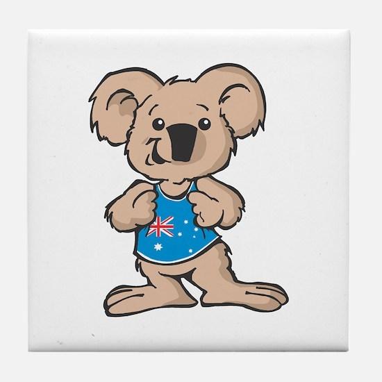 Australian Koala Tile Coaster