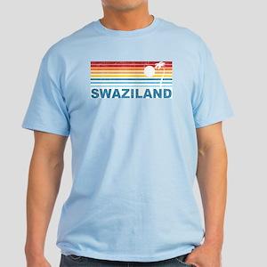 Retro Palm Tree Swaziland Light T-Shirt