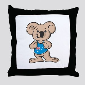 Australian Koala Throw Pillow