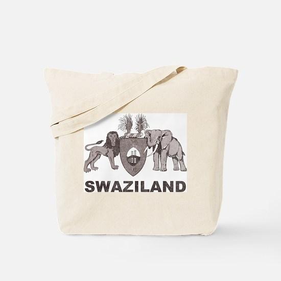 Retro Palm Tree Swaziland Tote Bag