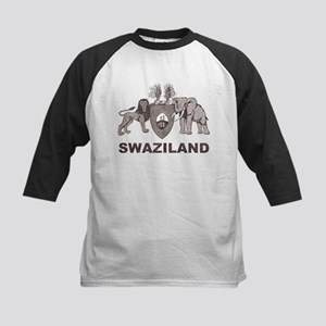 Retro Palm Tree Swaziland Kids Baseball Jersey