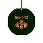 Tikiologist Dark Ornament (Round)