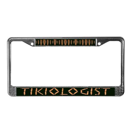 Tikiologist Dark License Plate Frame