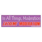 Moderation_X Bumper Sticker (50 pk)
