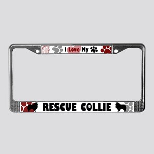 Collie Rescue License Plate Frame