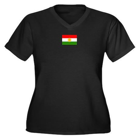 Kurdistan Women's Plus Size V-Neck Dark T-Shirt