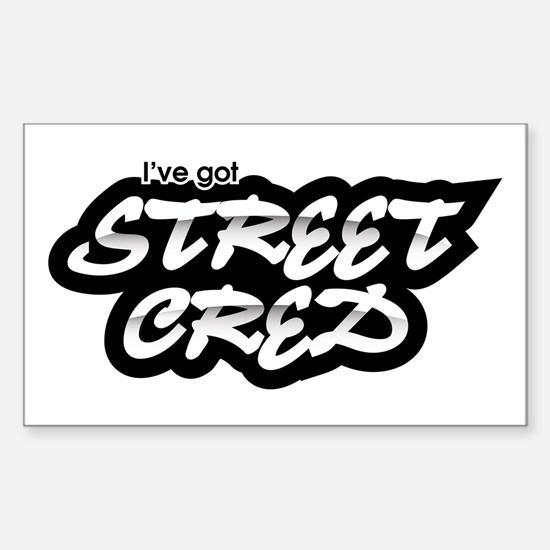 Street Cred Rectangle Decal