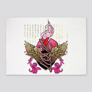 Winged Love 5'x7'Area Rug