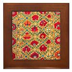Antique Uzbek Framed Tile