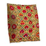 Antique Uzbek Burlap Throw Pillow