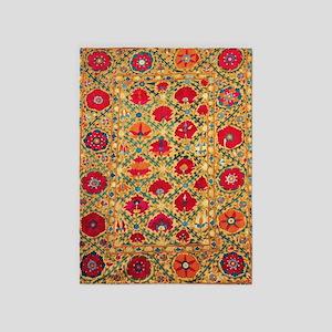 Antique Uzbek 5'x7'area Rug
