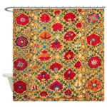 Antique Uzbek Shower Curtain