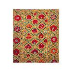 Antique Uzbek Throw Blanket