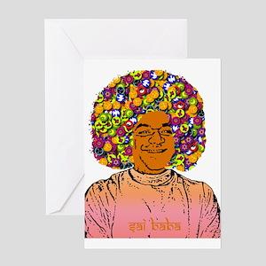Sai baba greeting cards cafepress sai baba greeting card m4hsunfo