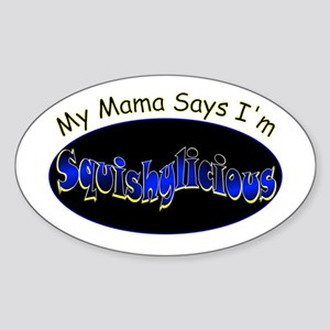 Squishy Mama Oval Sticker